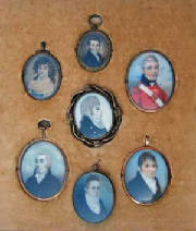 Miniature portraits of Millett ancestors